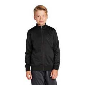 Sport-Tek® Youth Tricot Track Jacket