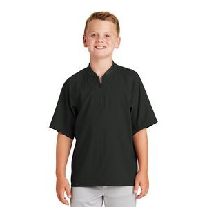 New Era® Youth Cage Short Sleeve 1/4-Zip Jacket