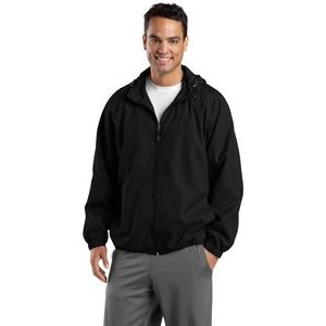 Sport-Tek® Men's Hooded Raglan Jacket