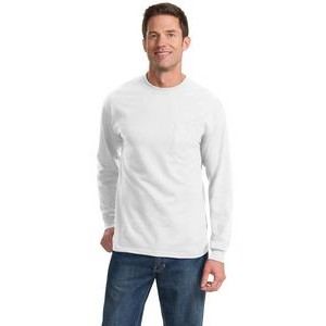 Port & Company® Men's Long Sleeve Essential Pocket T-Shirt