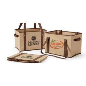 Non-Woven Collapsible Basket Tote (Screen Print)