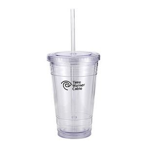 16 Oz. Slurpy Tumbler Gift Boxed w/5.5 Oz. Bag of Peach Ice Tea Mix
