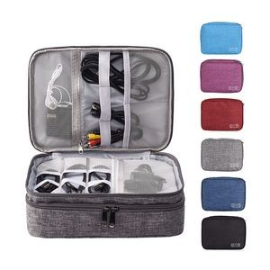 Waterproof Gadget Organizer Case w/3 Layers
