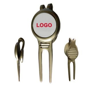 Magnetic Golf Divot Tool with Ball Marker