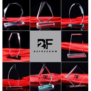 Crystal Clear Acrylic Award Multiple Shapes Plaques Persona Acrylic Award