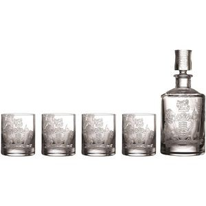 Waterford® Crest Decanter & Tumbler Set/4
