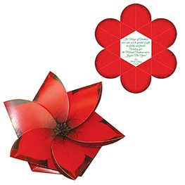 Foldable Flower Gift Card Holder Digital