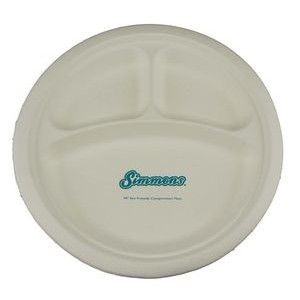 "10"" Eco-Friendly Compartment Plates - High Lines"