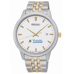 Men's Seiko Quartz Watch (White Dial)