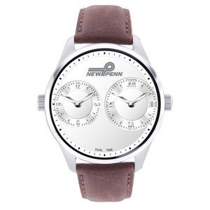 Pedre Dual Time Zone Watch (Brown Strap)