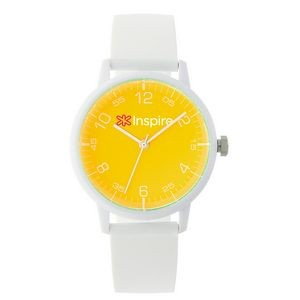 Pedre Fun Time White Watch (Yellow Dial)