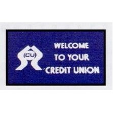 Olefin Financial Design Indoor/Outdoor Carpet (Welcome to Your Credit Union) (4'x6')