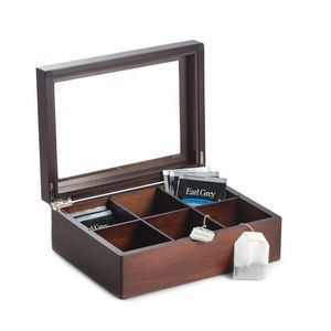 Tea Box with Glass See-thru Top