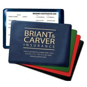 Foil-Stamped Vinyl Insurance Card Holder