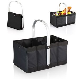Urban Basket Foldable, Collapsible Market Basket w/Stationary Handle