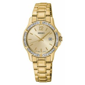 Seiko Ladies' PRIME Gold-tone Crystal Watch