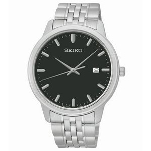 Seiko Men's PRIME Exclusive Watch with Black Dial