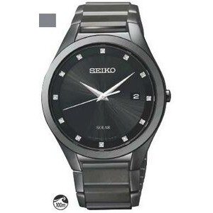 Seiko Men's Solar Watch with Diamonds