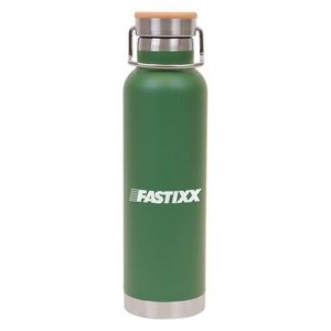 22 oz Double Wall Stainless Steel Vacuum Bottle w/Bamboo Lid And Copper Lining
