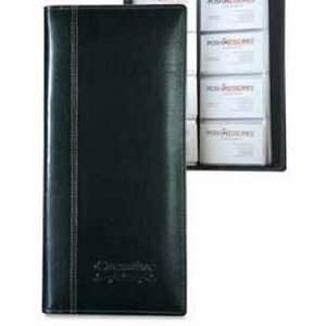 Atlantis Leather 4-Row Business Card File