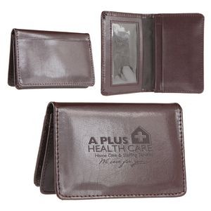 Atlantis Leather Business Card Wallet (Burgundy)