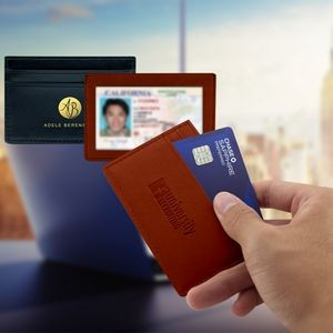 Elite RFID ID Window Card Holder Wallet (English Tan)