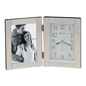 Bulova Forte Photo Frame and Clock