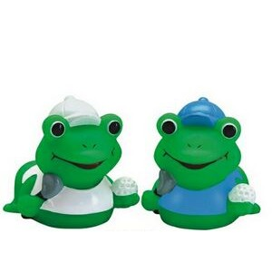 Mini Rubber Golfer Frog Toy