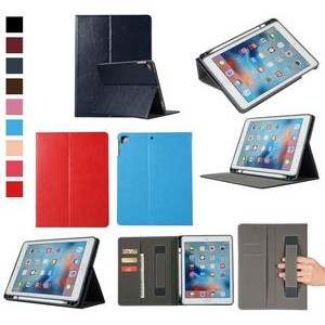 "iBank(R) iPad 9.7"" Leatherette Case with Pencil Holder"