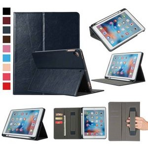 "iBank(R) iPad 9.7"" Leatherette Case with Pencil Holder (Black)"