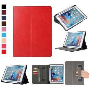 "iBank(R) iPad 9.7"" Leatherette Case with Pencil Holder (Red)"