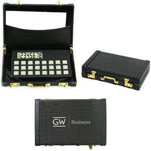 Credit Card Size Calculator and Business Card Holder in a Mini Attache Case