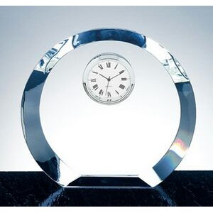 Eclipse Circle Clock - Optic Crystal