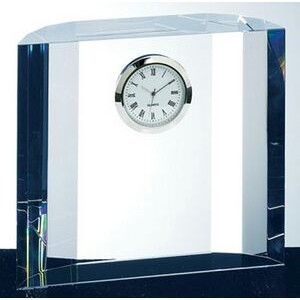 Crystal Winged Fantasy Clock - Optic Crystal