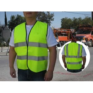 Class 2 Neon Green Safety Vest w/ANSI/ISEA 107-2004 Compliance