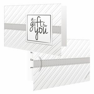 White Stripe - PrePrinted Card Carriers