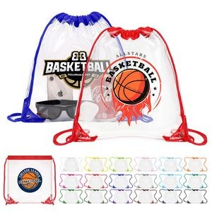 "Clear Drawstring Backpack with Grommets - 12"" x 12"""