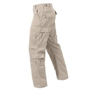 Stone Vintage Paratrooper Military Fatigue Pants (2X-Large)