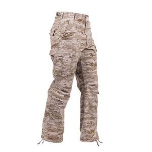 Desert Digital Camouflage Vintage Paratrooper Military Fatigue Pants (S to XL)