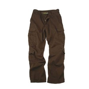 Brown Vintage Paratrooper Military Fatigue Pants (XS to XL)