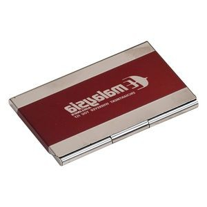 Red Stainless Steel Business Card Holder