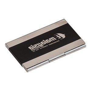 Black Stainless Steel Business Card Holder