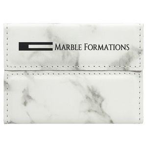 Laserable Marble Leatherette Business Card Holder