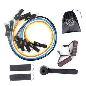 11 Piece Resistance Band Set Fitness Exercise Set