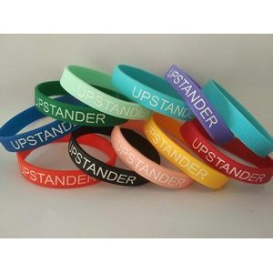 1/2 Inch Deboss-Fill Silicone Wristbands
