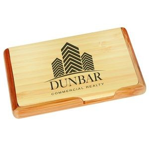 4.25x2.75 Bamboo Bus Card Holder