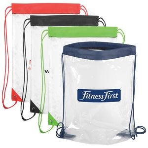 "Clear Drawstring Backpack (14""x17"")"