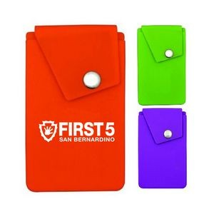 Silicone Snap Button Pocket Phone Wallet Holder