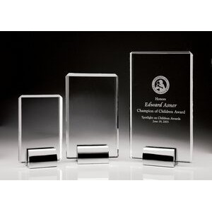 Clear Optical Crystal Plaque Award - Large