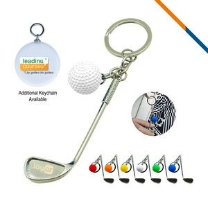 Golf Clubs Keychain White